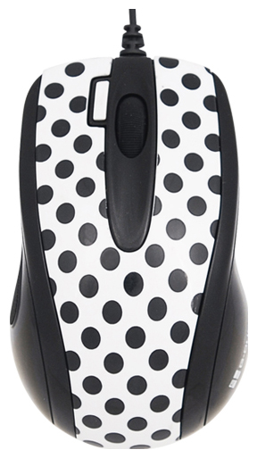 картинка Проводная Мышь G-Cube Black and White GLBW-73PD Polka Dottie Black, White от магазина Дижитал Вита